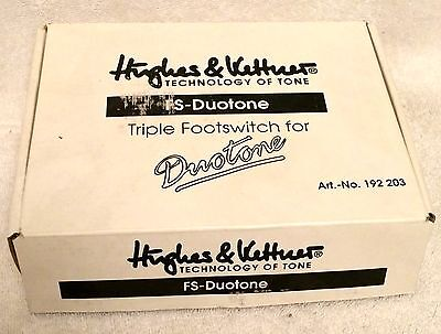 "Hughes & Kettner ""fs-Duotone"" Triple Footswitch For Duotone Amp! Never Used!!!"