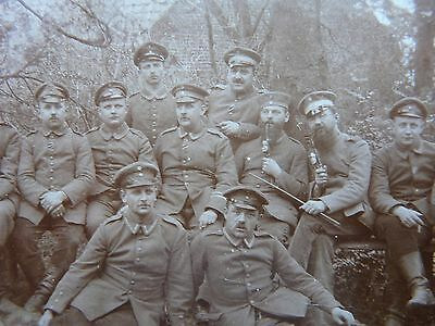 April 1915 Original Photograph of a Group of German soldiers Annotated on Rear