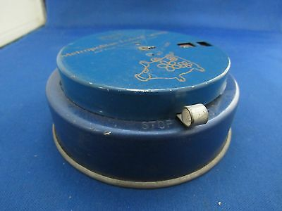 Great Vintage Metal Small Bank - Counts Coins
