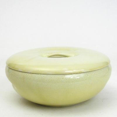 Russel Wright-Iroquois-Casual China-Avocado Yellow-Raindrop-Casserole and Lid