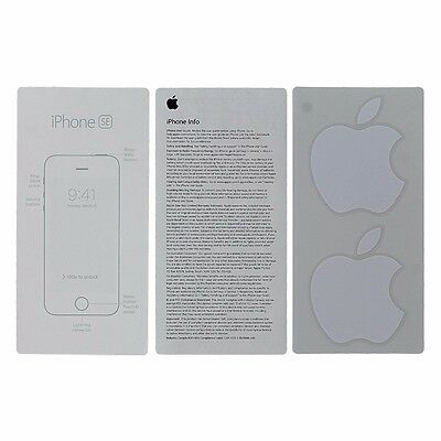 User Guide and Welcome Card for Apple iPhone SE - Apple Sticker Included