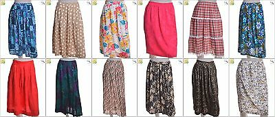 """JOB LOT OF 53 VINTAGE WOMEN""""S SKIRTS - Mix of Era's, styles and sizes (22871)"""