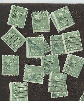 Stamps United States # 848, 1¢, lot of  100 used stamps.