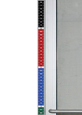 "Set of 2 - Security Height Ruler Tape Door Frame 1.75"" x 35"" Vinyl Sticker Color"