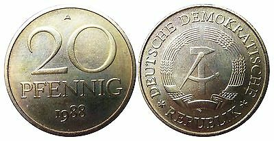 1511 20 Pfennig DDR 1988 A in STG  1502162