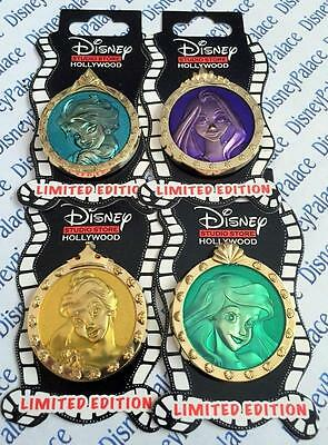 Disney DSF DSSH Princess Elsa Belle Ariel Rapunzel Portrait 4 Pin Set LE 500