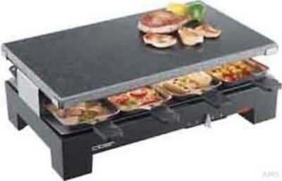 Cloer 6420 Raclette Grill with Stone, 8 Pans