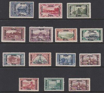 IRAQ 1918 British Occupation overprint complete mint set sg34-47