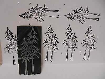 Vintage Pine Trees Logo Metal & Wood Letterpress Printing Block Type