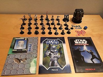 STAR WARS MINIATURES 34 assortite più accessori per giocare