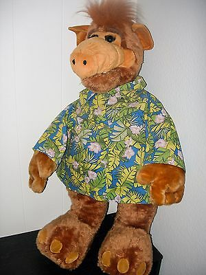 Alf Alien Large Plush Stuffed Animal Hawaiian Shirt Giant Huge 35 inches