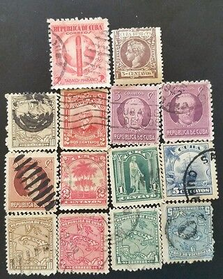 Central Am 1898 early 1900's 14 STAMPS COLLECTION . 1898y9 3 Centavos  very rare