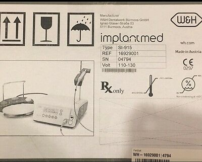W&H Dental Implant Motor And W&H Surgical Handpiece , Brand New