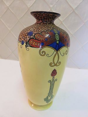 Crown Ducal Ware 1920s Art Deco Vase Yellow