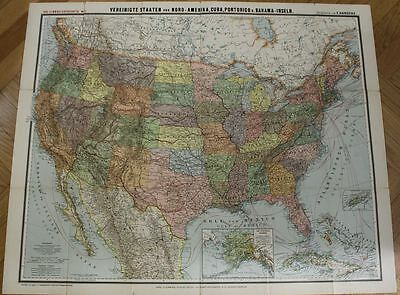 orig. GERMAN  WW2 BIG MAP OF UNITED STATES INTERESTING SEE IT