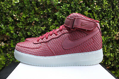 promo code 02acc 74063 Nike Air Force 1 07 Mid Lv8 Sz 14 Af1 Team Red White 804609 603