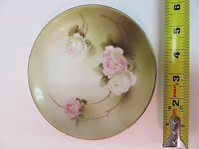 Genuine RS Germany Collectible Plate 1910-1945 Flowers Hand Painted 6""