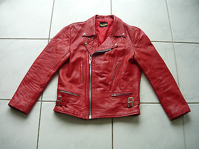 Red Motorcycle Jacket 38/40 M/L 48/50 mascot biker tt leathers lewis cdg comme