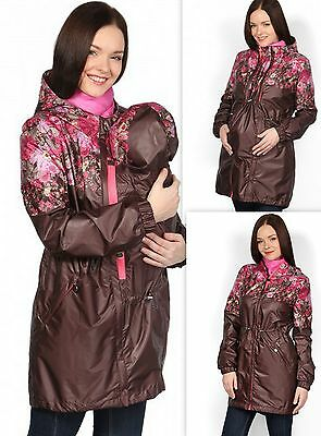 3-in-1 Maternity Pregnant Women Mommy Mom babywearing Coat Jacket w/ Baby Hat L