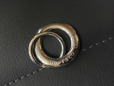 Auth Tiffany & Co Silver Return To Tiffany Double Ring 1837 Keychain