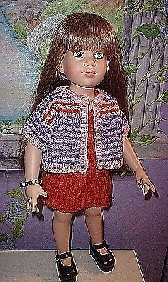 """Lovely Handknit 3-Pc Outfit For Magic Attic, 18"""" Slim Body Dolls"""
