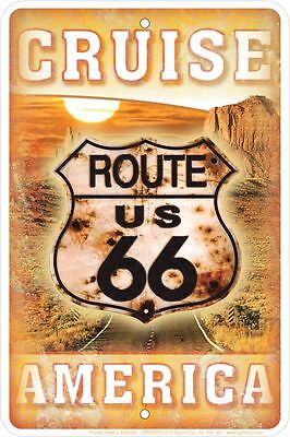 Cruise US Route 66 America METAL SIGN of Highway RT 66  Get Your kicks on 66