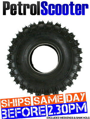 TYRE TIRE 4.10 - 4 Knobbly Off Road Thick Tread Fits Gokarts Petrolscooters