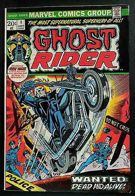 GHOST RIDER #1 Marvel '73 1st Issue of SOLO TITLE! ABC TV's AGENTS OF SHIELD!!