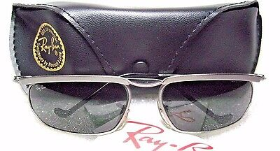 VINTAGE *NOS RAY-BAN B&L OLYMPIAN Matte Silver W2566 New Deco *NEW SUNGLASSES