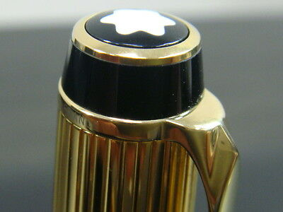 """""""VERY RARE〞Fantastic Montblanc Boheme Stripes Gold Plated Rouge Rollerball pen"""