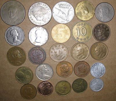 Lot,25 Foreign/World Coins,VG to AU+