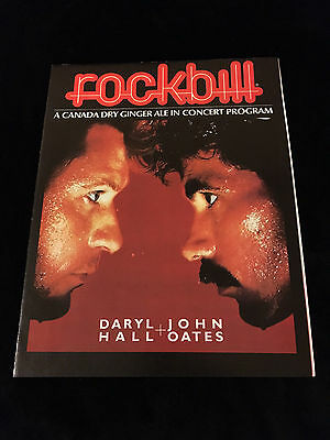 Hall And Oates Rockbill Canada Dry Ginger Ale-Concert Program