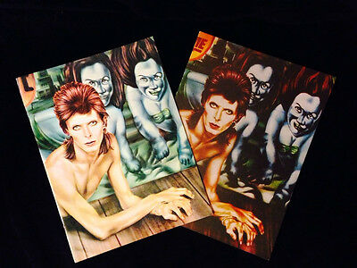 VINTAGE CONCERT PROGRAM LOT-DAVID BOWIE-DIAMOND DOGS-MATTE & SATIN 1st PRINTINGS