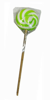 Round Light Green and White Lollipop (50g single lollipop)