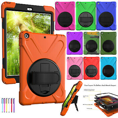 Kids Armor Shockproof Hybrid Strap Stand Case Cover For iPad 2 3 4/Air/9.7 2017
