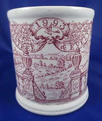 MASONS 1993 Crabtree & Evelyn Ironstone Pink Annual Mug Made in England