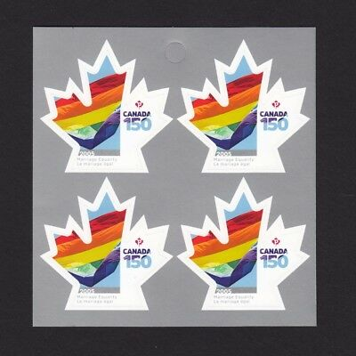 ca. CANADA 150 Celebration, MARRIAGE EQUALITY left bklt page of 4 sts, MNH 2017