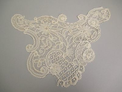 Antique Brussels lace Plastron Collar