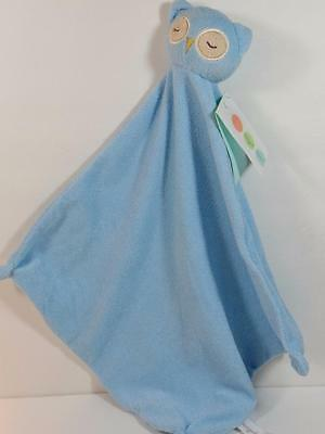 New Angel Dear Baby Boy's Soft Blue OWL Lovey Security Blanket