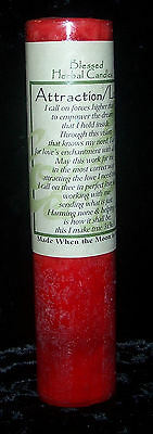 ATTRACTION LOVE Candle COVENTRY CREATIONS Love Blessed Herbal 7 x 1.5 Pillar