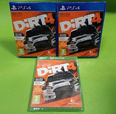 Dirt 4 Day One Edition, New In Seal, Playstation 4