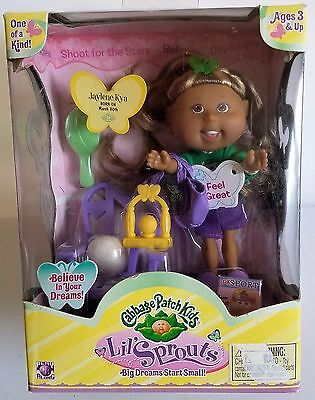 CABBAGE PATCH KIDS LIL SPROUTS Sports Jaylene Kya Born March 30th-NEW