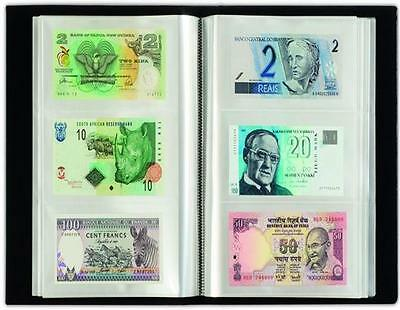 Premier Currency Album with 20 All Different Countries World Banknotes Money UNC