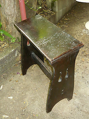 Antique Solid Timber Bench Stool ~ Vintage Wooden Seat