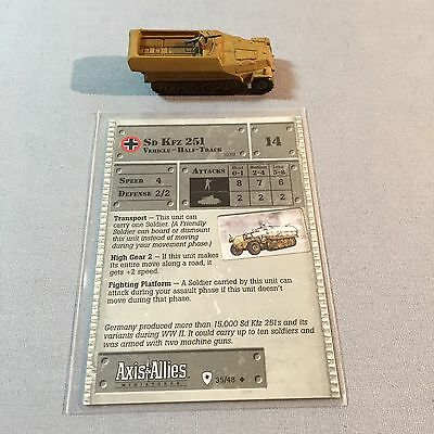 Axis & Allies Miniatures / Sd Kfz 251 Half-Track / 35/48 Germany