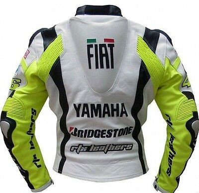 YAMAHA replica MOTORCYCLE MOTORBIKE RACING LEATHER JACKET CE APPROVED PROTECTION