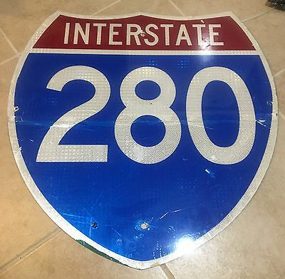 Original Interstate 280 Road Street Highway Road Sign NJ New Jersey CA IA IL OH
