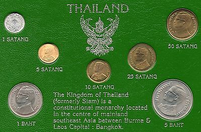 The Kindom Of Thailand - 7 Piece Coin Set In Original Presentation Packet