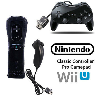 Built in Motion Plus Wiimote Controller Nunchuck /Classic Gamepad For Wii &Wii U