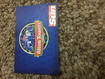 1 x ALTON TOWERS TICKETS  FOR THURSDAY 13TH  JULY